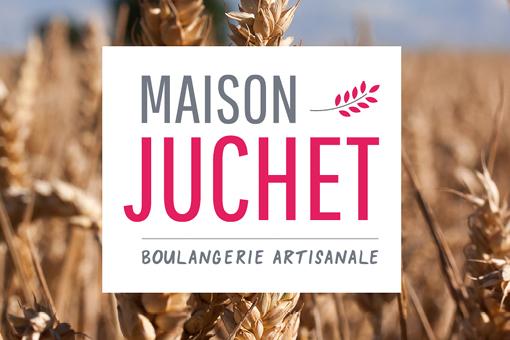 Logo Maison Juchet sur fond de blés