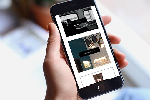 Il Esthétique site web mobile