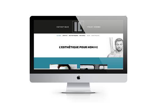 IL Esthétique site internet accueil