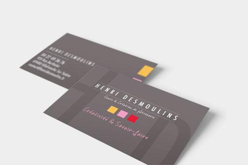 Carte de visite de la boutique Henri Desmoulins