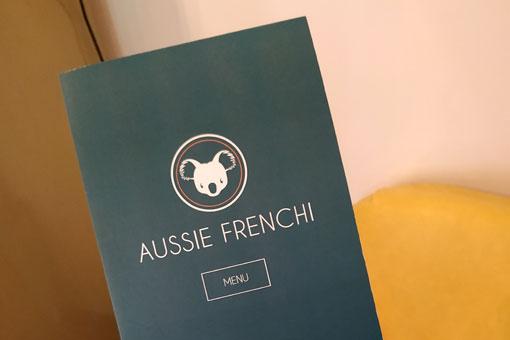 Nouveau menu d'Aussie Frenchi