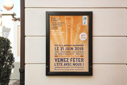 Affiche de la fête de la musique organisée par l'UCAS