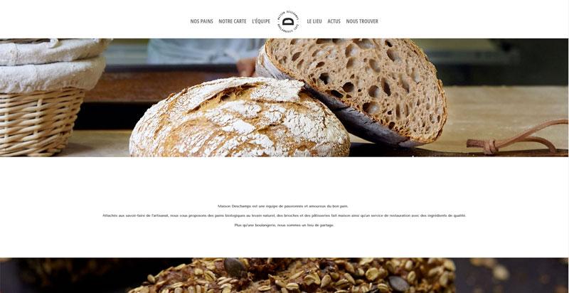Site internet Boulangerie Deschamps