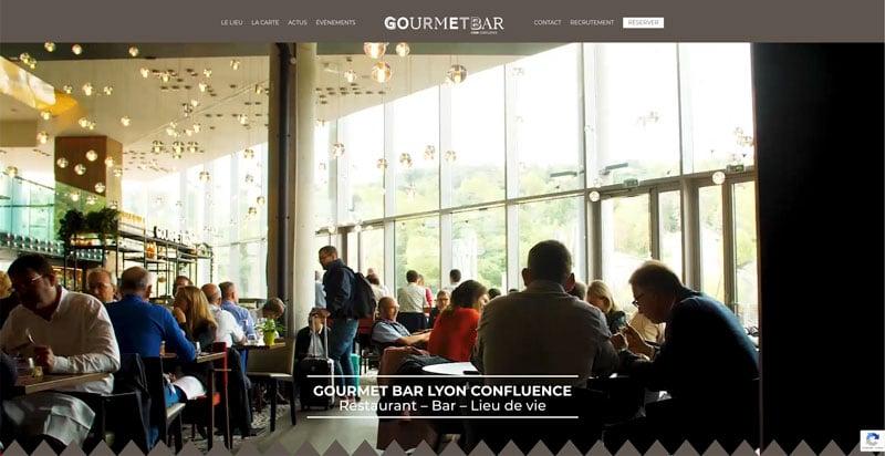 Site internet Gourmet Bar