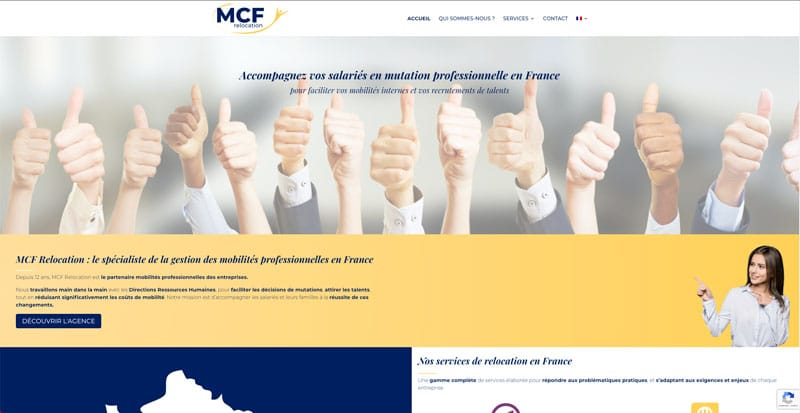 Site internet MCF Relocation