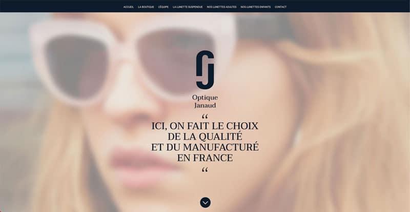 Site internet Optique Janaud