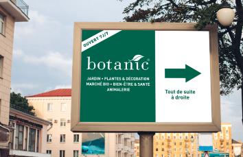 Panneau affichage Botanic