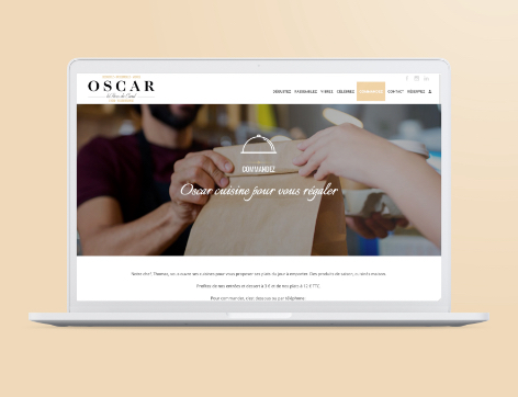 Site web Oscar Click and Collect